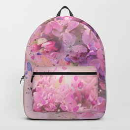 Watercolor lilac flowers on branch hand painted illustration Backpack