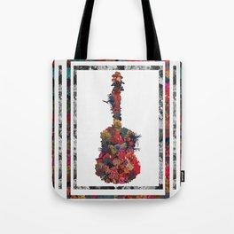 Guitar Flower Tote Bag