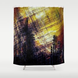 Burning Cities Shower Curtain