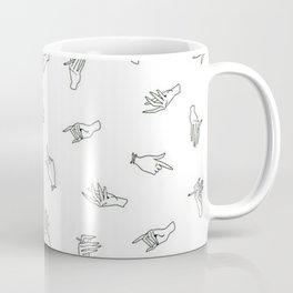 Hands pattern Coffee Mug