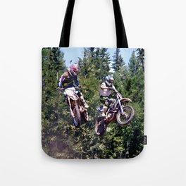 Closing In - Motocross Racers Tote Bag
