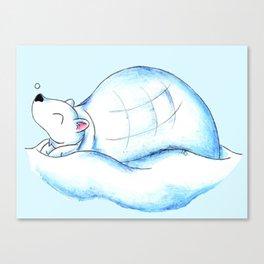 Home Sweet Igloo (North Pole) Canvas Print