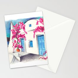 Bougainvillea in Cyclades Stationery Cards