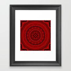 Red Mandala Framed Art Print