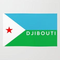 Djibouti country flag name text Rug