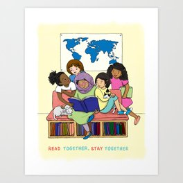 Read Together Stay Together Art Print