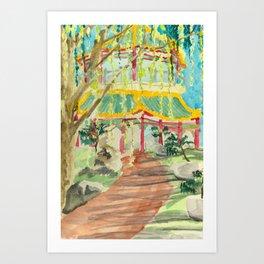 Path to the Pagoda Art Print