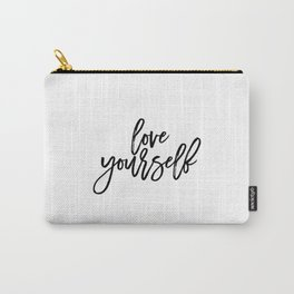 Justin Quote Justin Print Justin Song purpose album Song Lyrics Typographic Print Love Yourself Gift Carry-All Pouch