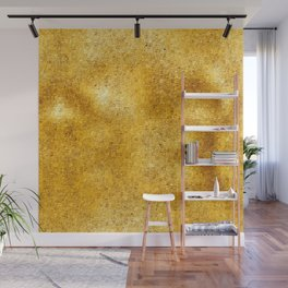 Pixillated Gold Foil Wall Mural