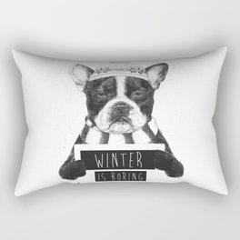 Winter is boring Rectangular Pillow