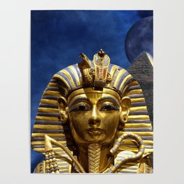King Tut and Pyramid Poster