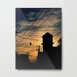Firehall Sunset Metal Print