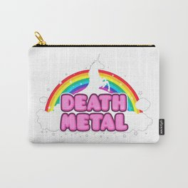 HEAVY METAL Funny Unicorn - Rainbow Mosh Parody Design) T-Shirt Carry-All Pouch