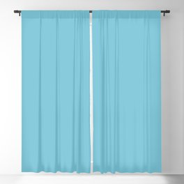 Pastel Blue Solid Color Pairs To Valspar America Fiesta Blue 5003-10A Blackout Curtain