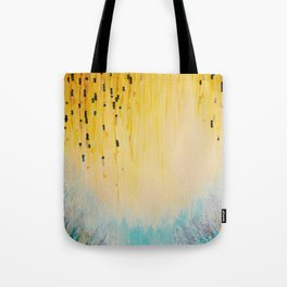 MYSTIC GARDEN Lovely Fairy Land Abstract Painting Acrylic Fine Art Winter Colorful Fantasy Magical Tote Bag