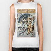shopping Biker Tanks featuring Shopping by Frankie Cat