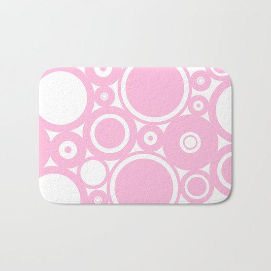 Abstract dots and circles - abstract patterns - pink #Society6 Bath Mat
