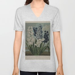 Edwards, S. (1768-1819) - The Temple of Flora 1807 - Hyacinths Unisex V-Neck