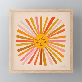 Sunshine – Retro Ochre Palette Framed Mini Art Print