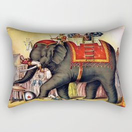 1874 Elephant Performing Circus Advertisement Poster Rectangular Pillow