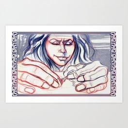 Fondle Art Print