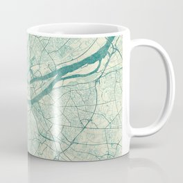 Nantes Map Blue Vintage Coffee Mug