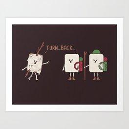 Turn Back Art Print