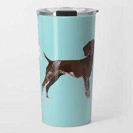 german shorthair pointer funny farting dog breed gifts Travel Mug