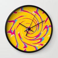 artsy Wall Clocks featuring artsy by vidikay