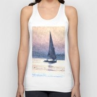 water colour Tank Tops featuring Felucca Water Colour by Brian Raggatt