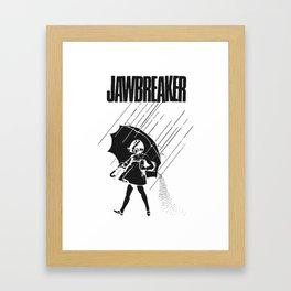 Jawbreaker Girl with umbrella Framed Art Print