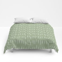 Raindrop Boho Abstract Pattern, Sage Green Comforters