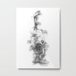Male dancer - graphite Metal Print