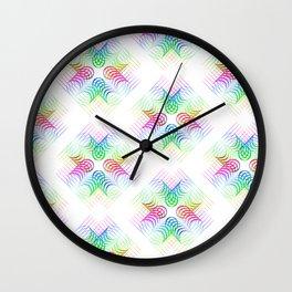 Colorful Rainbow Pattern Wall Clock