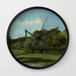 """Gustave Courbet """"La Bretonnerie in the Department of Indre"""" Wall Clock"""
