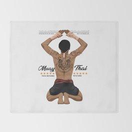 Muay Thai Wai Khru Throw Blanket