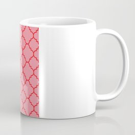 Quatrefoil - Pink & Red  Coffee Mug