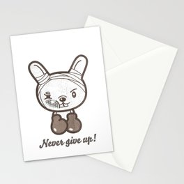 Boxing Bunny Stationery Cards