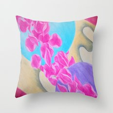 Departure from Goliath Throw Pillow