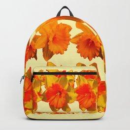 CREAM COLOR GOLDEN DAFFODILS GARDEN ART DESIGN Backpack