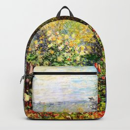 Claude Monet : A Corner of the Garden at Montgeron Backpack