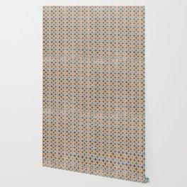 Vintage abstract geometrical mosaic diamond shapes pattern Wallpaper