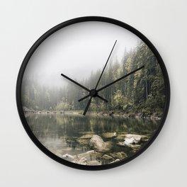 Pale lake - landscape photography Wall Clock