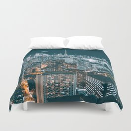 Toronto by night - City at night Duvet Cover