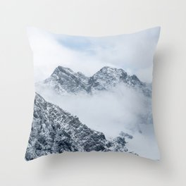 Mountains and clouds Throw Pillow