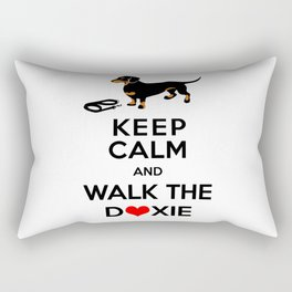 Walk the Doxie Rectangular Pillow