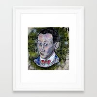 pee wee Framed Art Prints featuring pee wee by Roosterface