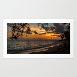 Sunset on Paradise Art Print