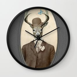 The Butterfly Collector Wall Clock