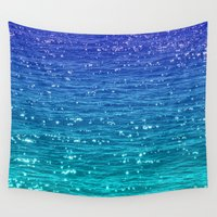 sparkle Wall Tapestries featuring SEA SPARKLE by Catspaws